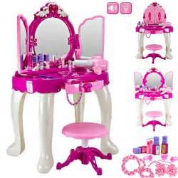 Makeup Vanity For Toddlers Large Mirror Dressing Table Play Vanity Set Makeup Ebay