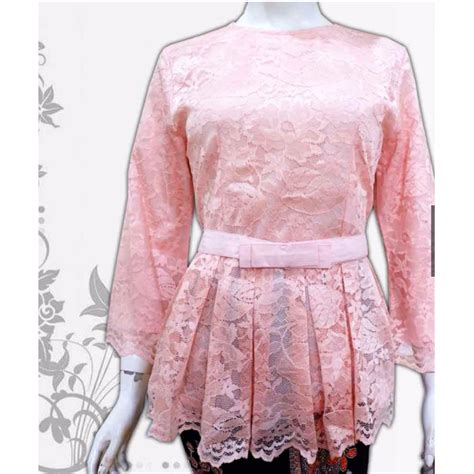 Atasan Kebaya Cantik atasan kebaya peplum cantik baju pesta wisuda lamaran