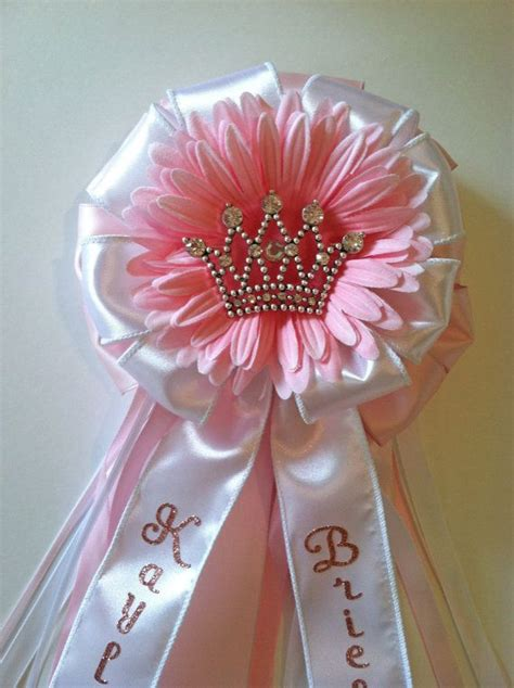 Corsage De Baby Shower by Princess Crown Baby Shower Corsage On Etsy 30 00 Baby
