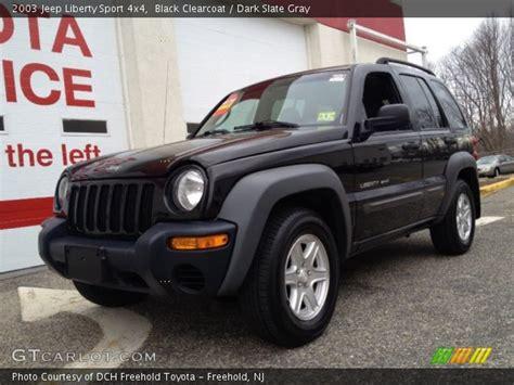 black jeep liberty 2003 black clearcoat 2003 jeep liberty sport 4x4 slate