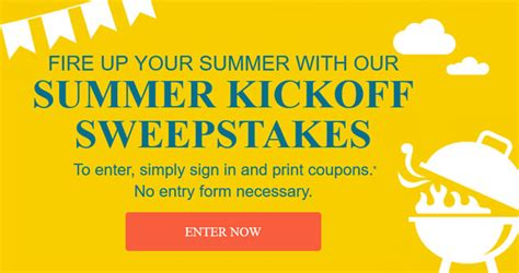 Sweepstakes Coupons - coupons com summer sweepstakes win a 1 000 shopping spree