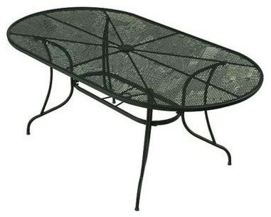 Oval Wrought Iron Patio Table Bji Inc Patio Tables Wrought Iron Green Oval Patio Dining Table Contemporary Dining