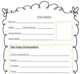 Lebenslauf Bild Rahmen Mrs 2 Steckbrief Schule