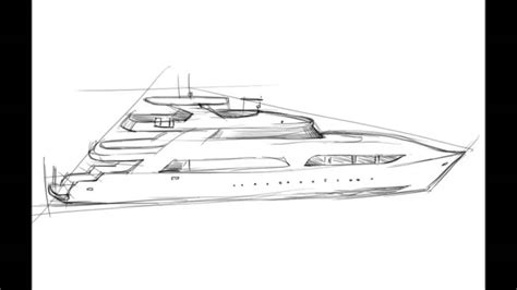 how to draw a boat in perspective how to draw a yacht youtube