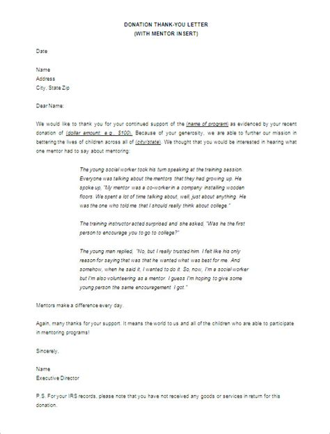 Sle Fundraising Letter Of Inquiry Donor Thank You Letter 10 28 Images Sle Donation Thank You Letter 10 Exles In Word Pdf