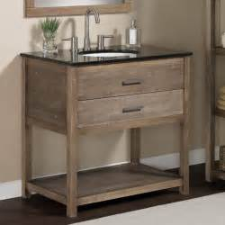Elements 36 inch granite top single sink bathroom vanity contemporary