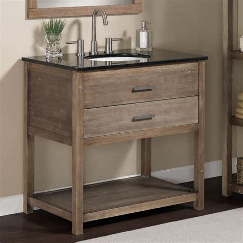 Vanity Cabinet And Sink by Elements 36 Inch Granite Top Single Sink Bathroom Vanity