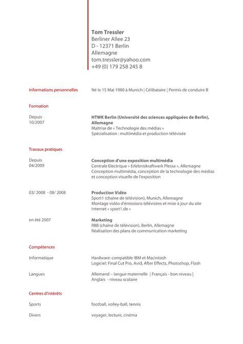 Muster Mahnung In Französisch Bewerbung Auf Franzsisch Lebenslauf Franz 246 Sisch Lebenslauf Bewerbung Franzoesisch Muster