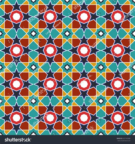arabic islamic pattern background vector abstract arabic islamic seamless geometric pattern stock