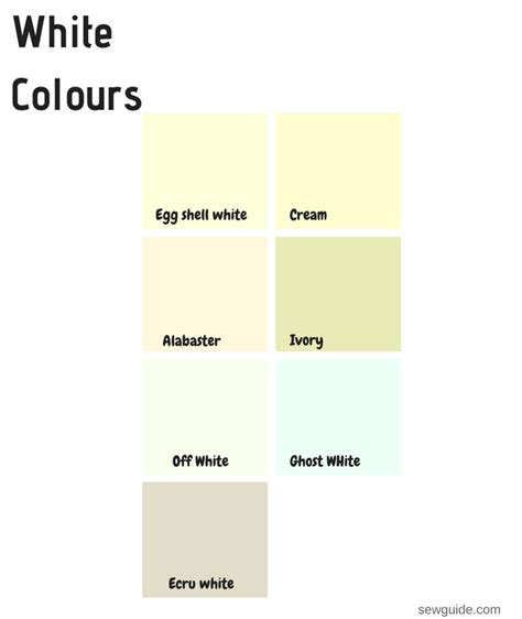 white color names color names in fashion design an easy reference guide