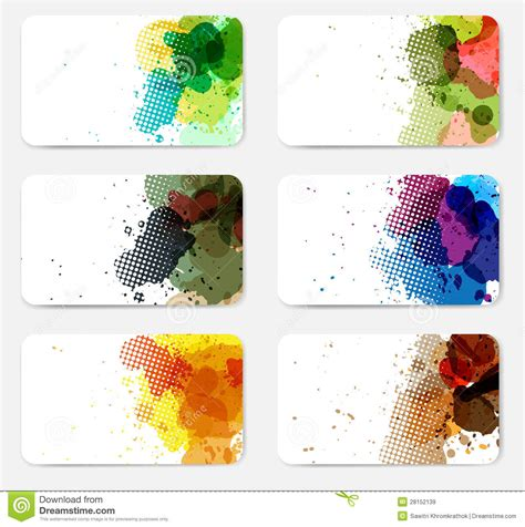 vector banners with watercolor paint splash stock vector image 28152139