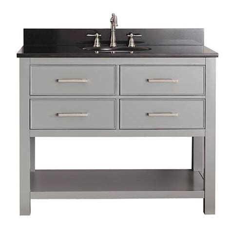 chilled gray 42 inch vanity combo with black