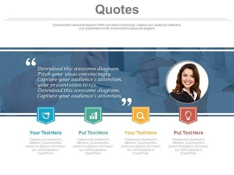 powerpoint templates for quotes business quotes for female employee powerpoint slides