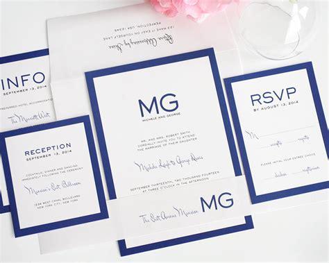 monogram wedding invitation kits black wedding invitations wedding invitation kits