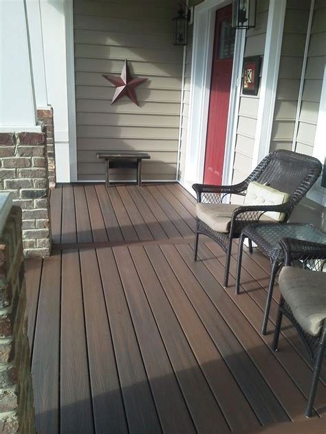 trex wood front porch floor covering ideas