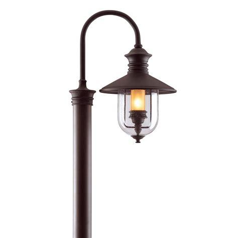Troy Outdoor Lighting Fixtures Troy Lighting Town Outdoor Bronze Post Light P9364nb The Home Depot