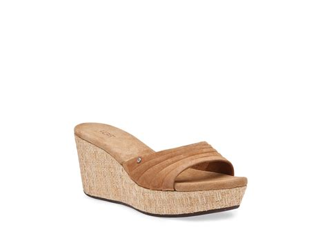 ugg wedge sandals ugg alvina wedge sandals in lyst