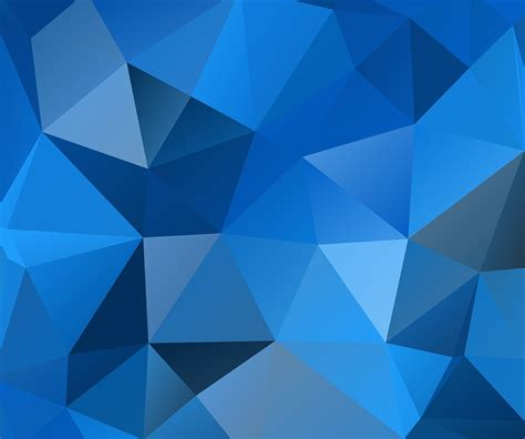 design background triangle free illustration blue triangles polygon free image