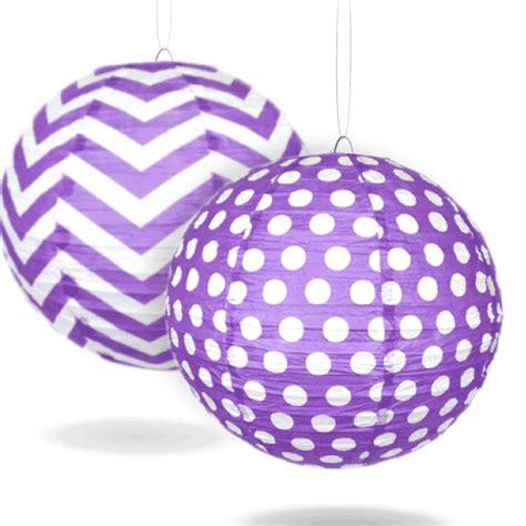 pattern paper lanterns purple pattern paper lanterns