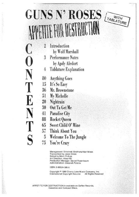 free download mp3 guns n roses paradise city guns n roses appetite for destruction sheet music