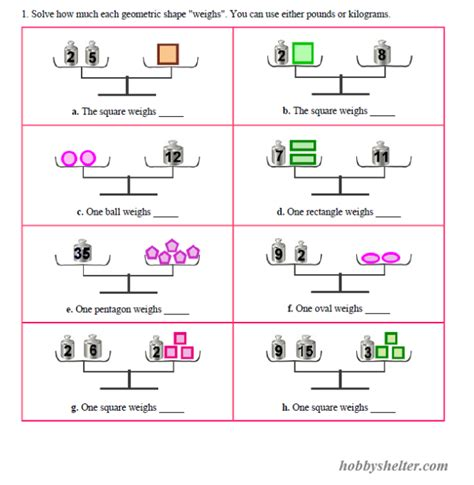 Pan Balance Worksheets by Pan Balance Problems Kiddo Shelter Educative Puzzle