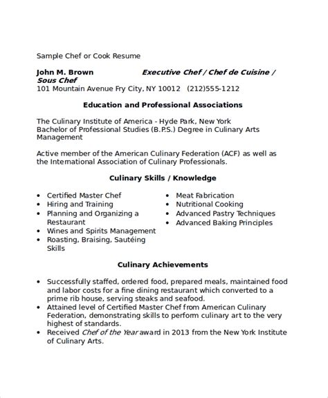 sample chef resume new downloadable chef resume samples writing