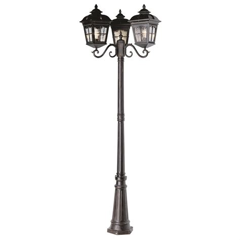 trans globe lighting 3 head outdoor antique rust pole light 173590 solar amp outdoor lighting