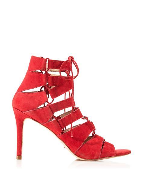 lace up high heel sandals loeffler randall lottie lace up high heel sandals in
