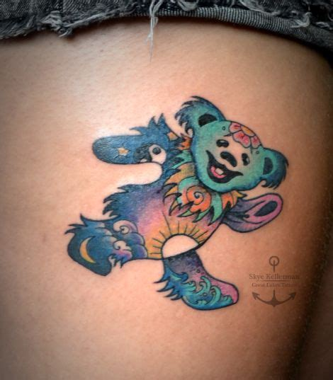 dancing bear tattoo designs grateful dead grateful dead and grateful