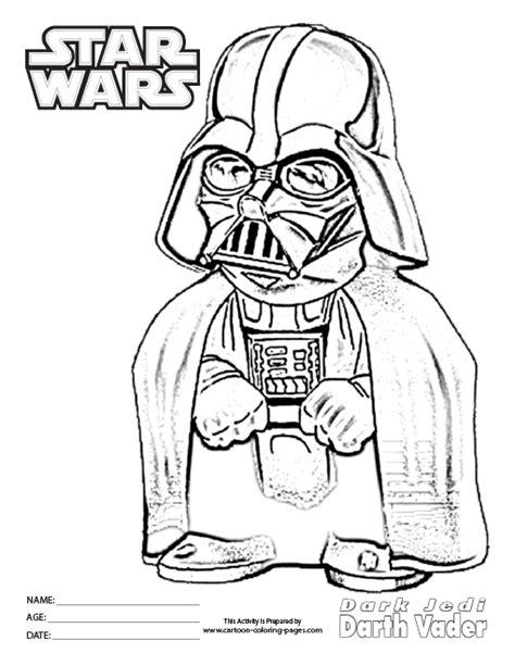 free coloring pages of lego darthvader