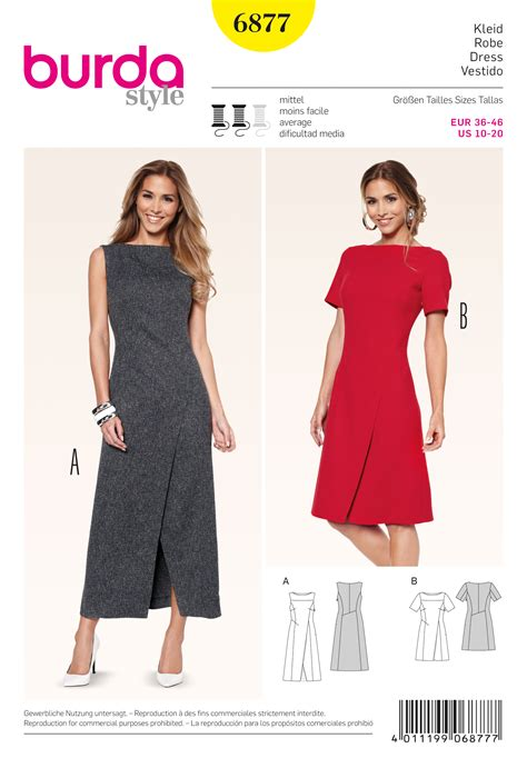 pattern dress burda burda 6877 dresses