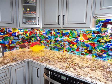 colorful abstract kitchen backsplash designer glass best colorful kitchen backsplash ideas domino