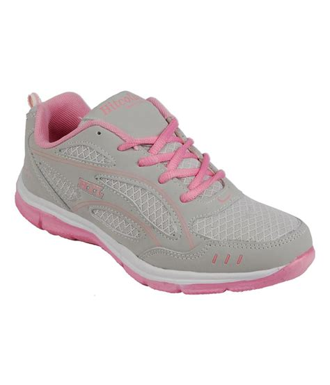 hitcolus grey and pink trendy sport shoes price in india