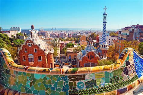 barcelona gaudi parc guell in barcelona an antoni gaudi work barcelona