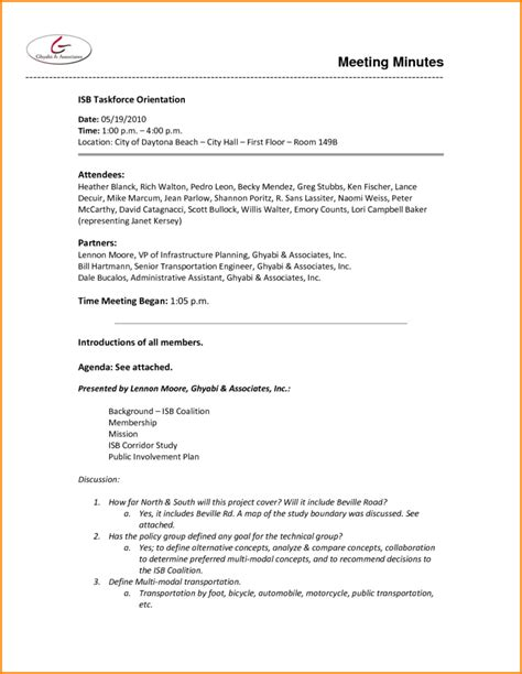 non profit board meeting minutes template 4 best