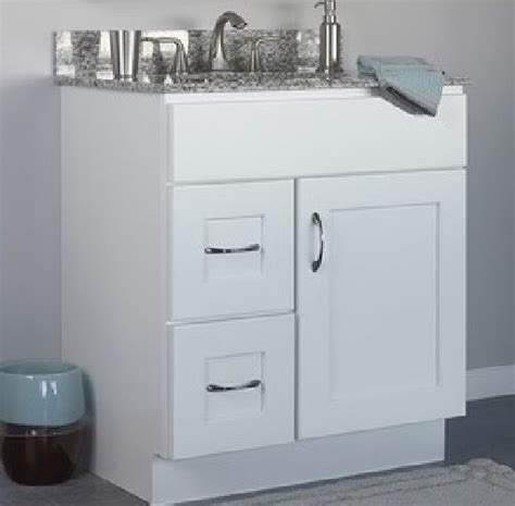 bathroom vanities with drawers only jsi dover bathroom vanity cabinet white base only 30 quot 1 door 2 left hand drawers