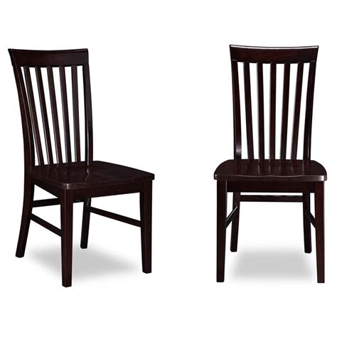 atlantic furniture mission dining chairs in espresso set