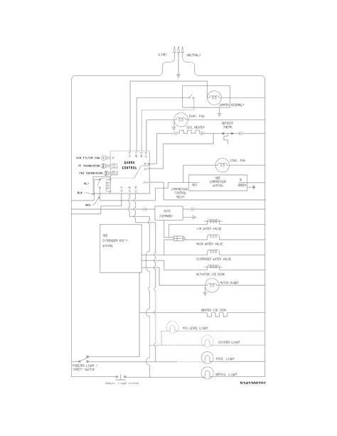 wiring diagram for frigidaire refrigerator wiring diagrams