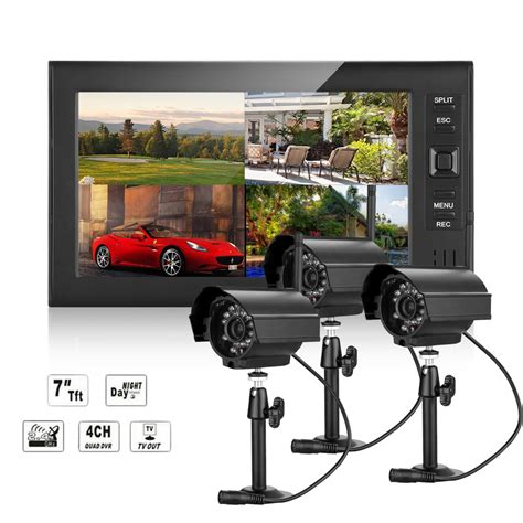 cctv dvr 4ch hd 3x outdoor wireless monitor home