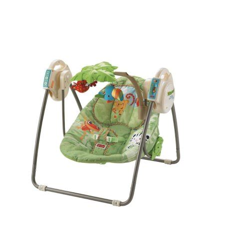 fisher price rainforest swing fisher price rainforest open top take along swing with