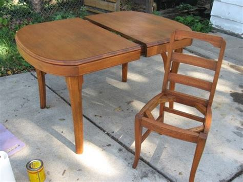 how to refinish dining room table and chairs how to refinish a dining table chairs apartment therapy