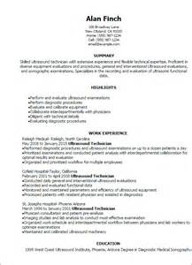 How To Write A Tech Resume Ultrasound Technician Resume Sample Resumes Design