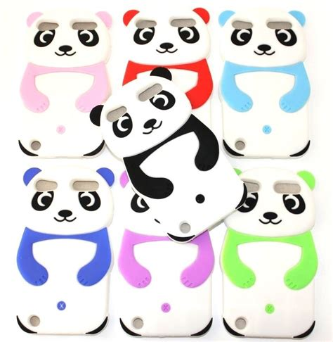 Silicon 4d Softcase 3d Panda Fashion Iphone Samsung Oppo Vivo ipod touch 5th soft silicone rubber cover 3d