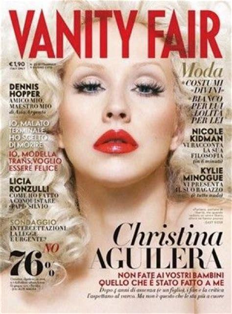 Shop Vanity Fair by Aguilera Covers Vanity Fair Italy