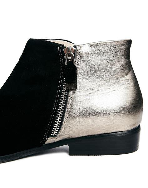 messeca messeca titan studded flat boots at asos