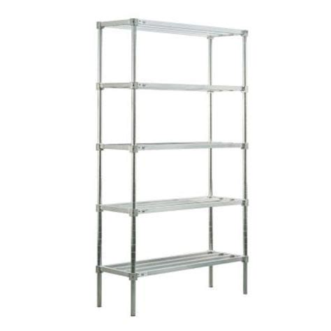 home depot industrial shelving new age industrial 5 shelf aluminum heavy duty style adjustable shelving c51848hh8 the home depot