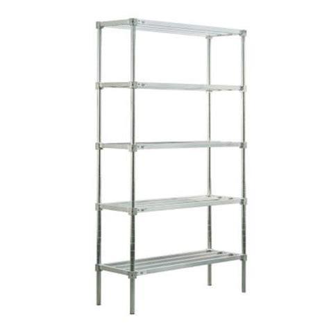 home depot shelving new age industrial 5 shelf aluminum heavy duty style