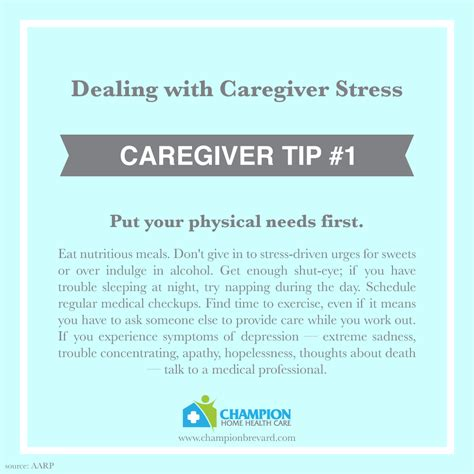 10 ways to deal with caregiver stress