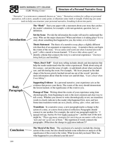 Narrative Essay Structure by Structureofa Personalnarrativeessay