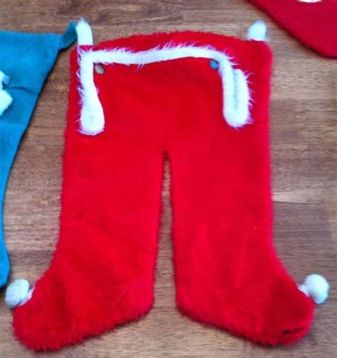 santa pants stocking vintage christmas projects